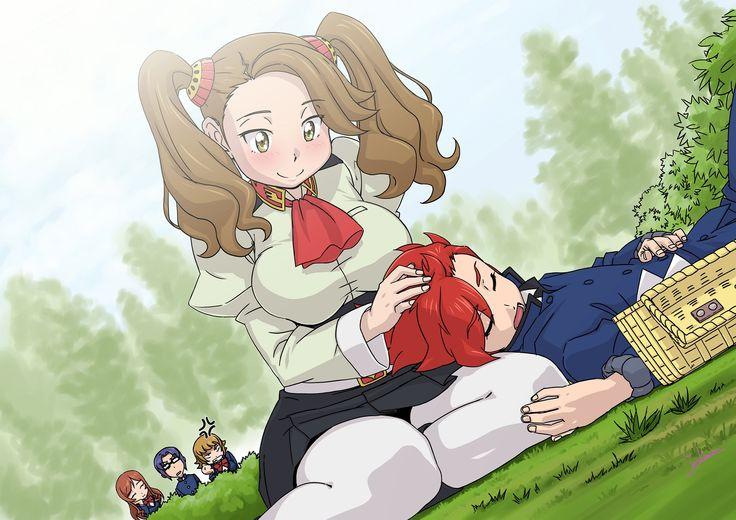 Sazaki Kaoruko and Kamiki Sekai - Gundam Build Fighters Try