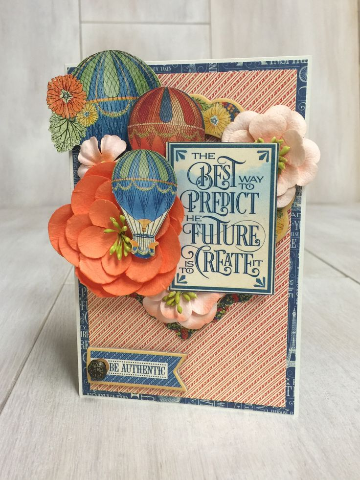 How to Make an Inspirational Card Using Graphic 45 by Danielle Copley #graphic45