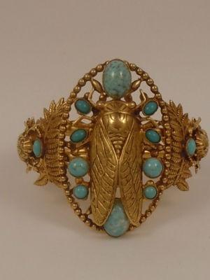 Askew London Cicada and Scarab bracelet