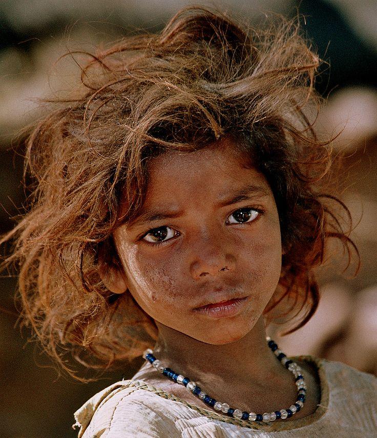 Asia - India / Orissa teenagegirl with wild hair