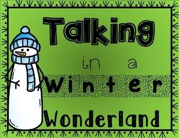 Talking in a Winter Wonderland Poster for Speech Therapy Room freebie!