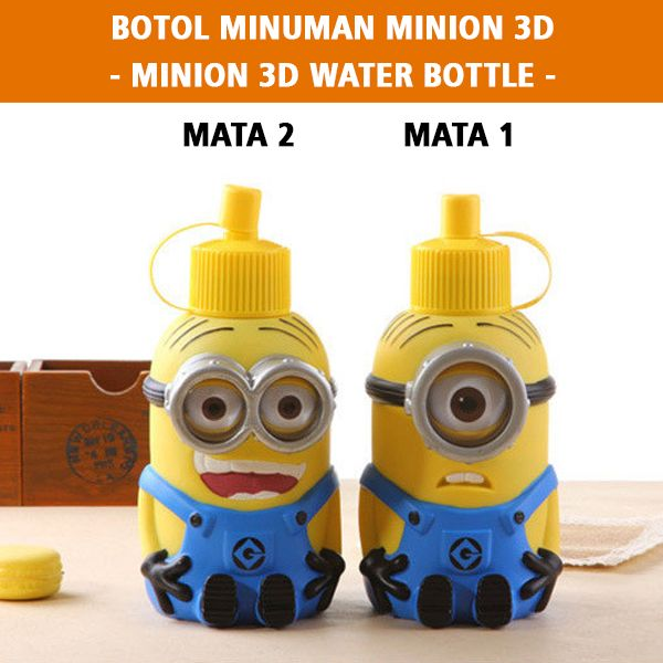 Minion 3d Water Bottle Rp 160.000