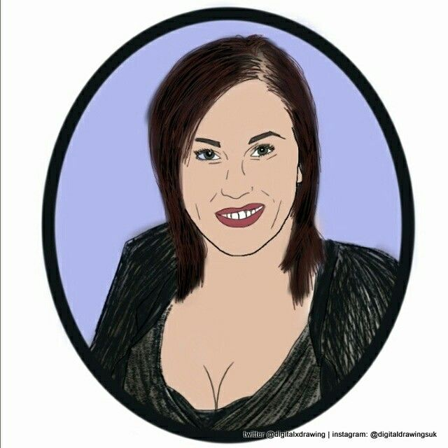 Jessie Wallace who plays Kat Slater in EastEnders #eastenders #digitaldrawing