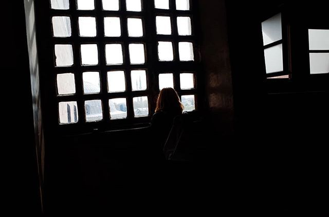Emptiness #skantzman #manolisskantzakis #photography #colour #window #ayiasofia #instabul #turkey #28mm #ricohgr #church #woman