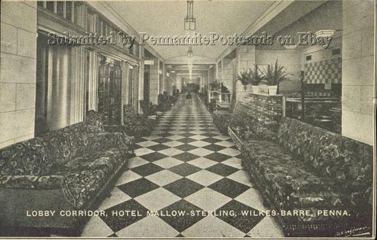 Sterling Hotel Lobby Corridor, Wilkes Barre PA