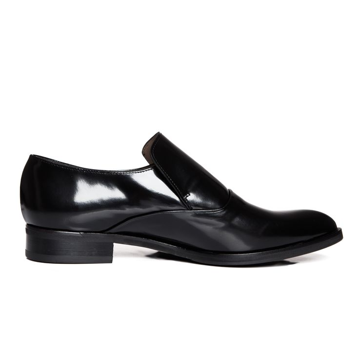 Zurbano | Black Loafers - black patent leather loafer shoes for women
