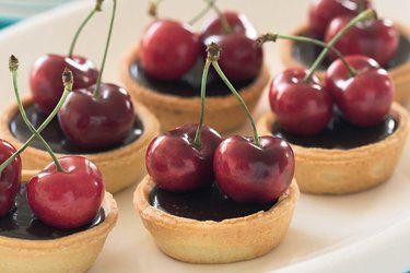 Chocolate cherry tarts