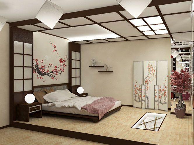 Room Design Ideas For Bedrooms Part - 36: Japanese Bedroom Design Ideas: Furniture, Accessories, Decor In Pictures