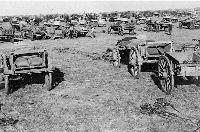 """Convoy of the 11th Division """"outspanned"""" on the march to Kroonstad"""