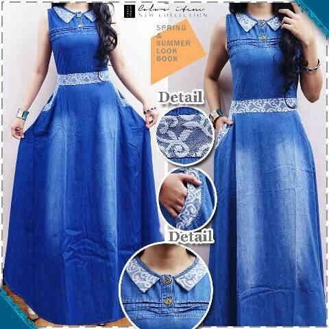 Dress Jeans Washed busui kaki lebar - GROSIR Ukuran : All size fit to XL Tidak ecer, pembelian dalam SERI sesuai warna