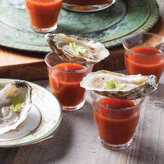 Delight friends and family with these Bloody Mary Oyster Shooters at your next party.    Get more great Cajun and Creole recipes in Louisiana Cookin's January/February 2017 issue. Now on newsstands!