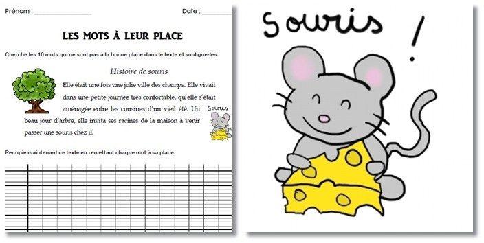 Une petite fiche de travail pour des élèves de CE2. L'idée vient de ce site : Partie «Jeux d'écriture» Il s'agit d'un court texte dans lequel 10 mots…