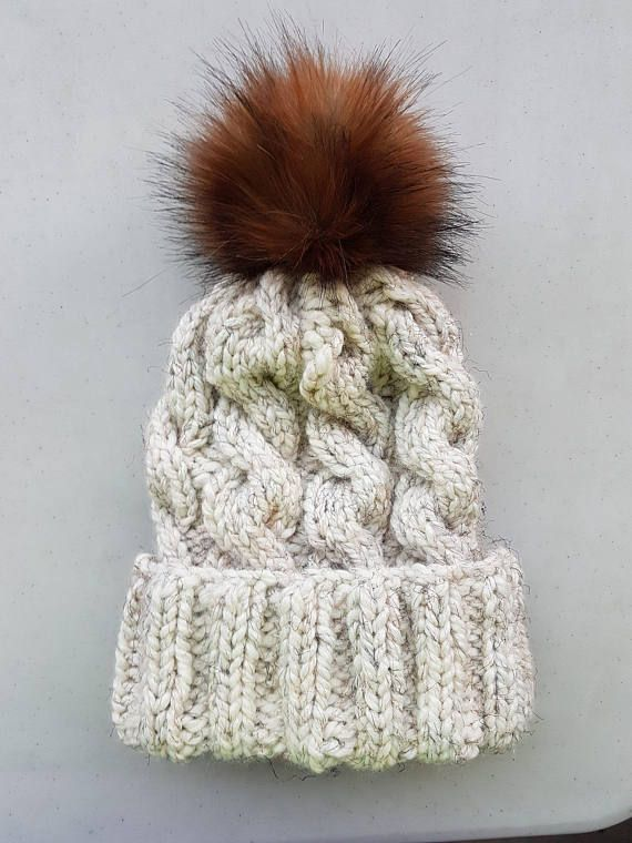 Hey, I found this really awesome Etsy listing at https://www.etsy.com/ca/listing/548115741/cable-beanie-knit-beanie-fold-over-brim