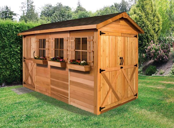 Cedarshed Boathouse Kit With Exterior 100% Wester Red Cedar Finish. Great  With The Double