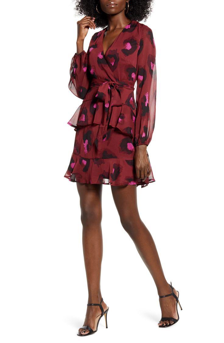 Women's Love, Fire Tiered Wrap Dress, Size X-Small – Beige