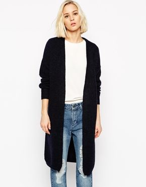 SELECTED LONGLINE CARDIGAN IN MOHAIR MIX