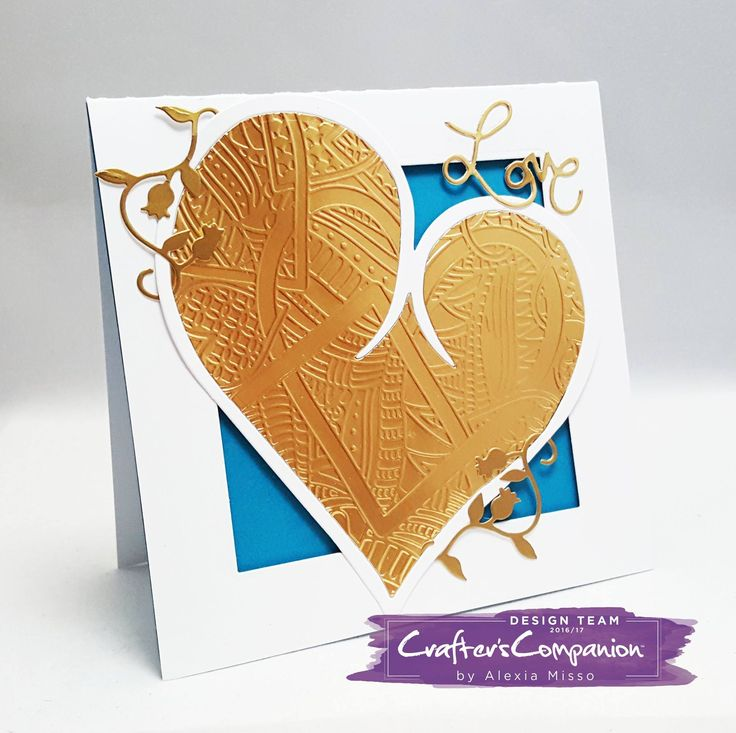 #Card made with goodies from the #LeoniePujol #Entwined collection from #crafterscompanion