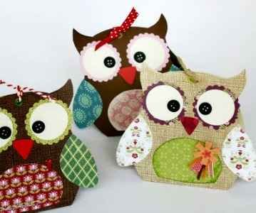 These owl crafts would be really cute as quilted potholders too