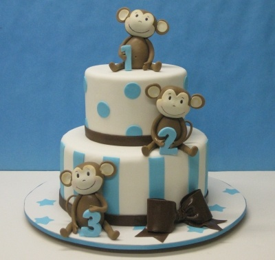 Triplets Baby Shower By RenP on CakeCentral.com