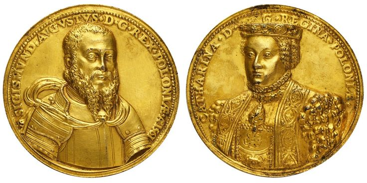 Medal commemorating the marriage of Sigismund II Augustus and Catherine of Austria by Steven Corneliusz van Hervijck, 1561, Private collection