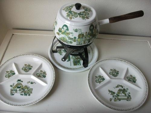 Figgjo Turi Design Market Finel Fondue Set with 2 Fondue Plates | eBay