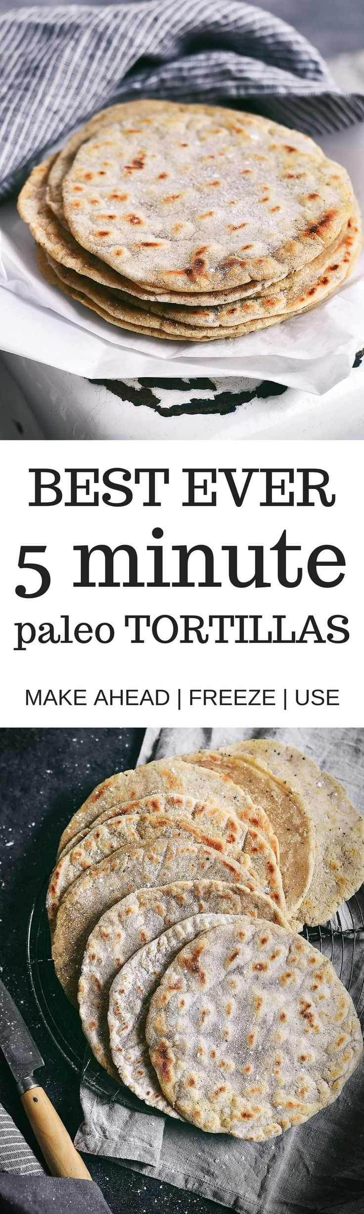 Best ever 5 minute cassava flour tortillas and several other recipes.