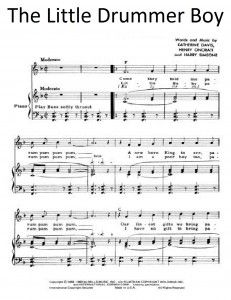 sheet music little drummer boy - Google Search