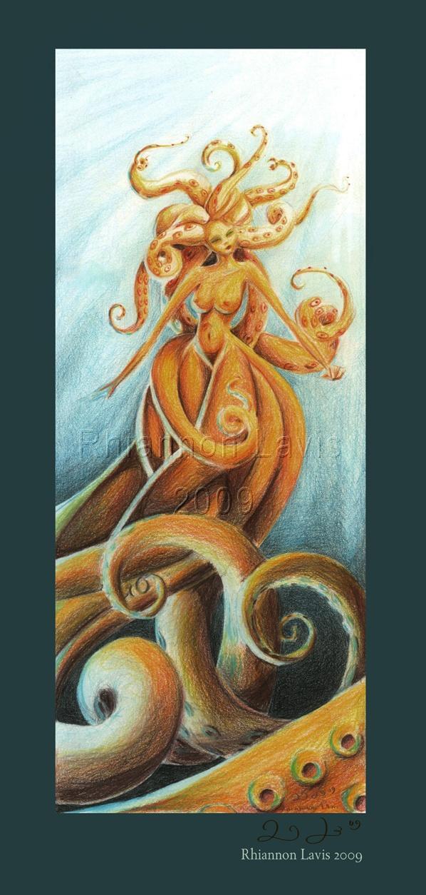 A different kind of Mermaid by Rhi La Vis (Rhiannon Lavis)