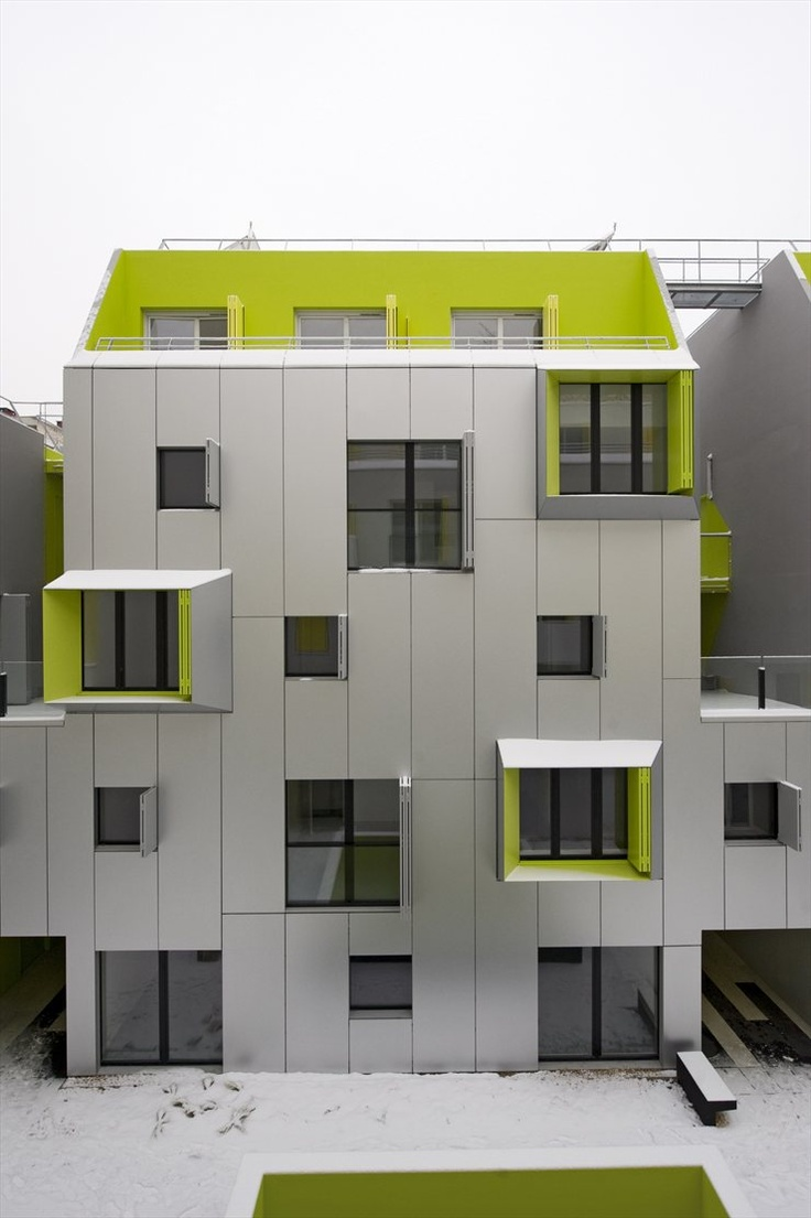 Social Housing In Paris (eng) Volume And Urban IntegrationThe Project  Creates A Continious U0026laquo; On Rue Marcadet And Along Rue Stephenson , In  Which The ...