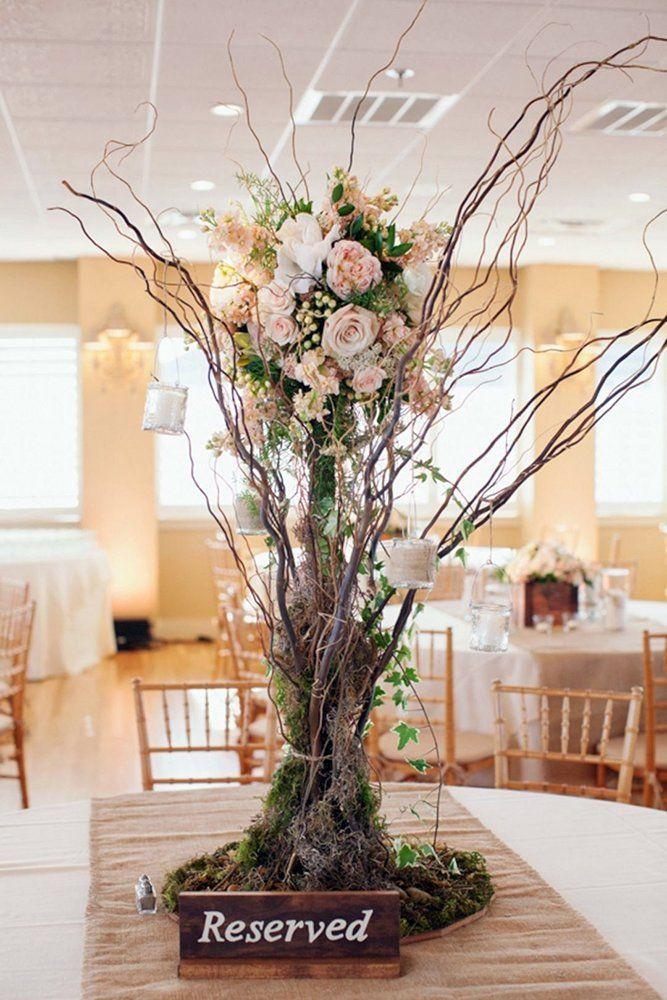 42 Rustic Wedding Centerpieces Fancy Ideas Wedding Forward Curly Willow Centerpieces Flower Centerpieces Wedding Wedding Centerpieces