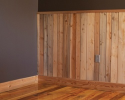 Rustic Wainscoting for Basement walls