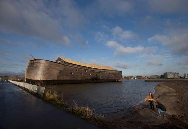 Dutchman Johan Huiber's life-sized replica of Noah's Ark 427 feet (130 meters) long, 95 feet (29 meters) across and 75 feet (23 meters) high