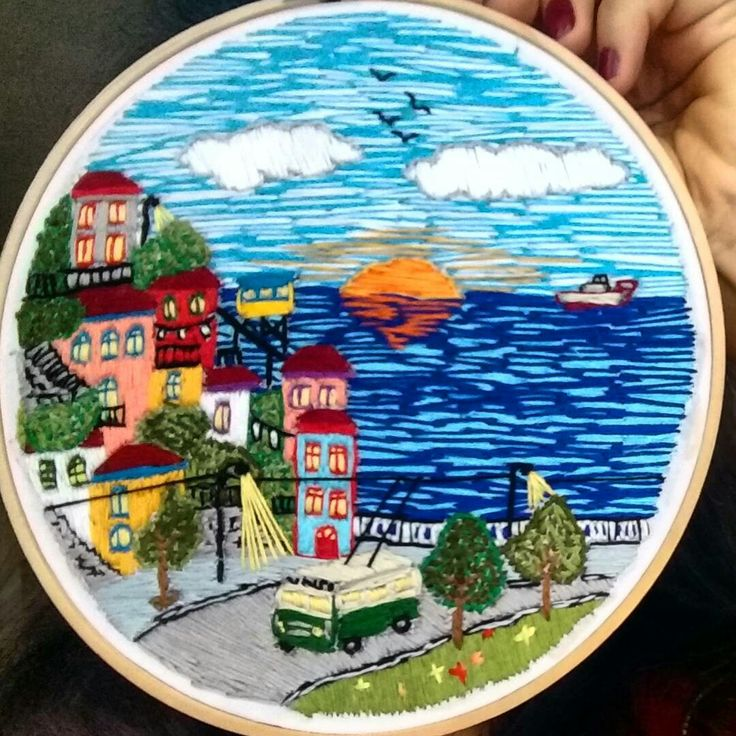 Embroidery bordado valparaiso chile art