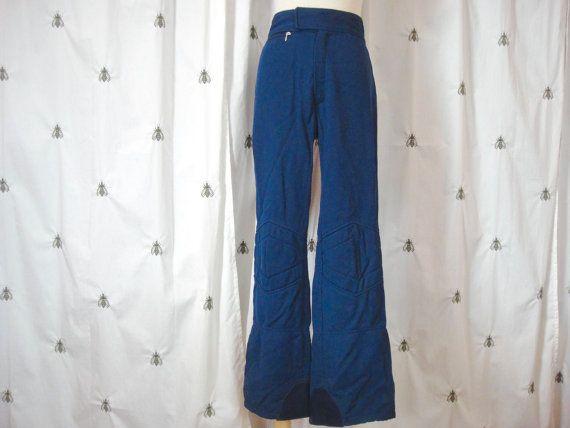 Pantaloni sci d'epoca metà del secolo Navy da Olympian