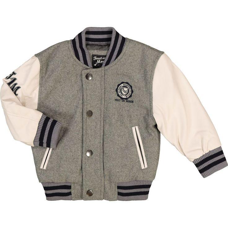 Grey Bomber Jacket - Baby Boy - Baby & Nursery - Kids & Toys - TK Maxx #babyboyjackets