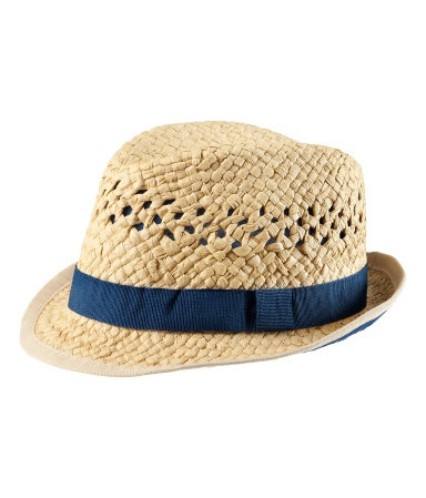 H Straw Hat. Might be a necessity considering he'll be born in July 2012.