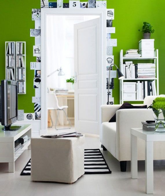 Green Living Room Design Ideas: Decorations And Furniture
