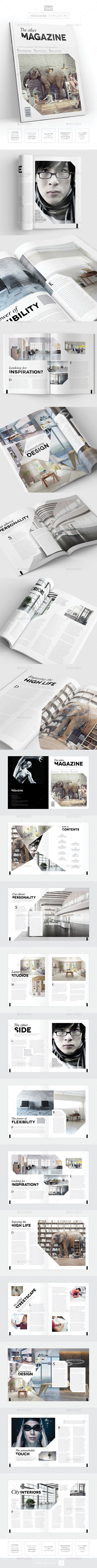Magazine Template  InDesign 24 Page Layout V11 — InDesign INDD #clean #business • Download ➝ https://graphicriver.net/item/magazine-template-indesign-24-page-layout-v11/19672556?ref=pxcr