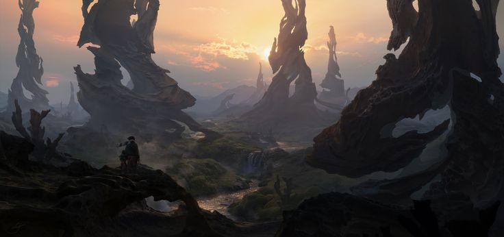 I was very fortunate to be apart of The Production Design Master Class with Dylan Cole. This is the first illustration that I've made. The assignment was to create a fantasy landscape.  You can go to my personal website where you can see more details.  http://christiandimitrov.com/gallery/fantasy_land