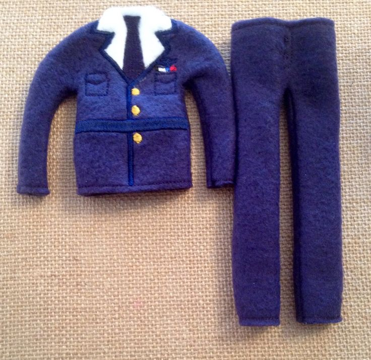 """Elf Air Force Sweater and Pants Set for your favorite Elf or 12"""" Doll by LoveOnANeedle on Etsy"""