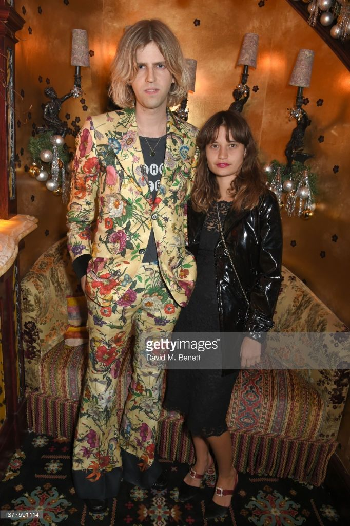 Bunny Kinney (L) and guest attend the Nick Cave & The Bad Seeds x The Vampires Wife x Matchesfashion.com party at Loulou's on November 22, 2017 in London, England.