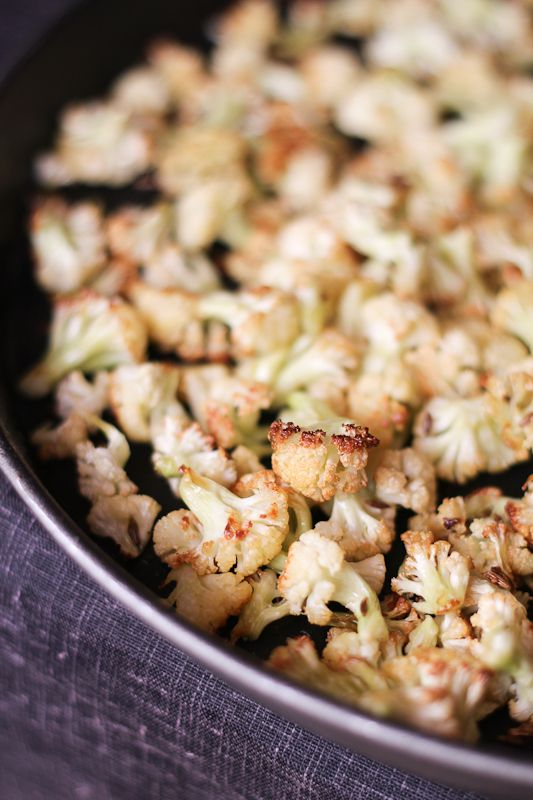 Simplicity at its best - Roasted Cauliflower with Whole Cumin Seeds