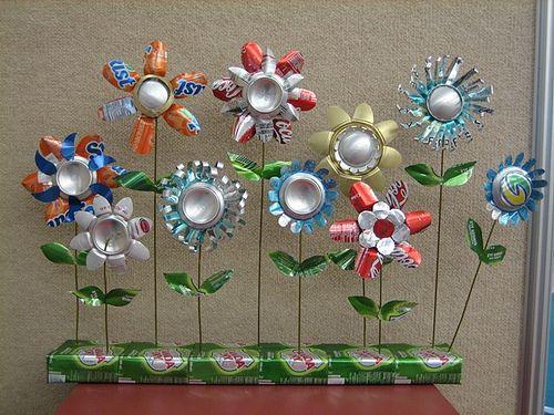 flower bed art ideas pinterest tin can art tin can flowers