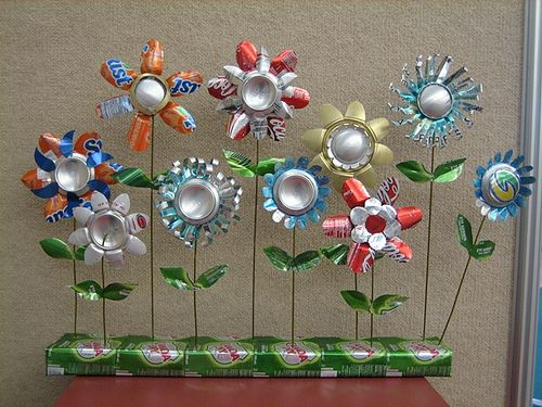 Flower Bed | Flickr - Photo Sharing! Fan?TAB/ulous Aluminum & Tin Can Art