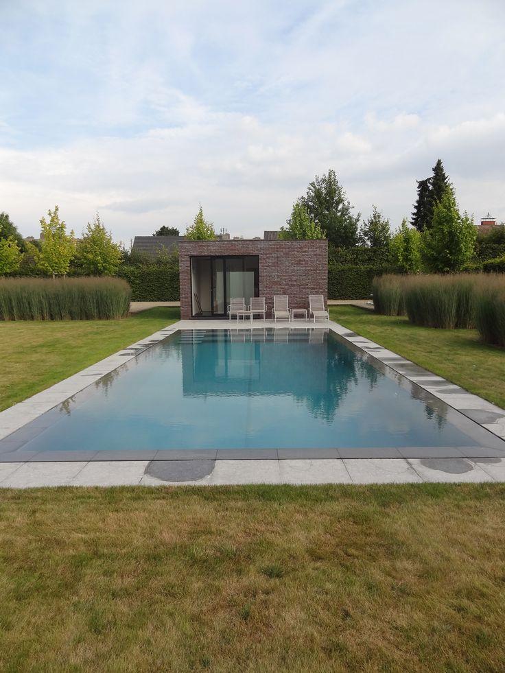 Zwembad met ontspanningsruimte.