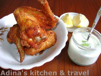 Adina's kitchen & travel: Aripi de pui Buffalo cu sos de smantana si ceapa v...
