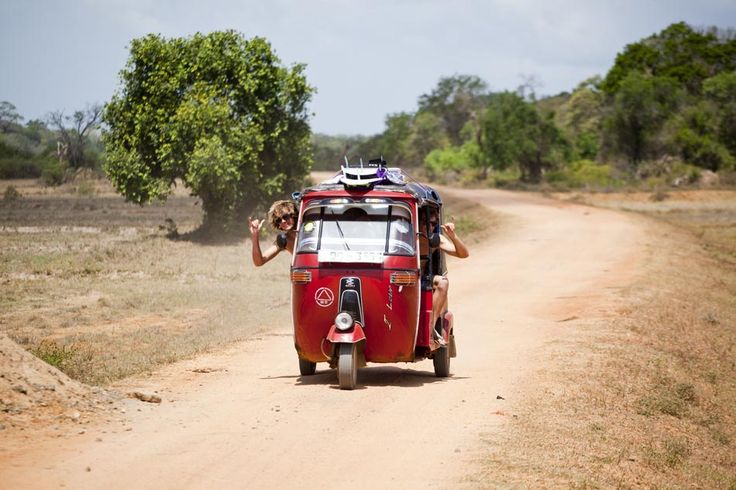 """Arugam Bay, Sri Lanka Tuk Tuk surfing road trip""  Hired one ourselves one day to visit temples, beaches, monasteries, crocodiles and eventually run out of petrol in ""Elephant Country"""