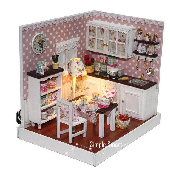 Miniature Dollhouse Room DIY Kit Home Sweet Home by SimpleSmart