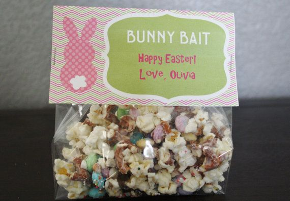Personalized BUNNY BAIT  Easter Treat Bag door OliviaKateDesigns, $6.00