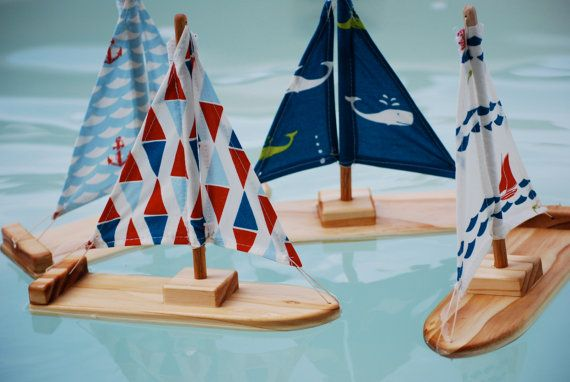 NEW Organic Nautical Wooden Sailboat by TweetToys on Etsy